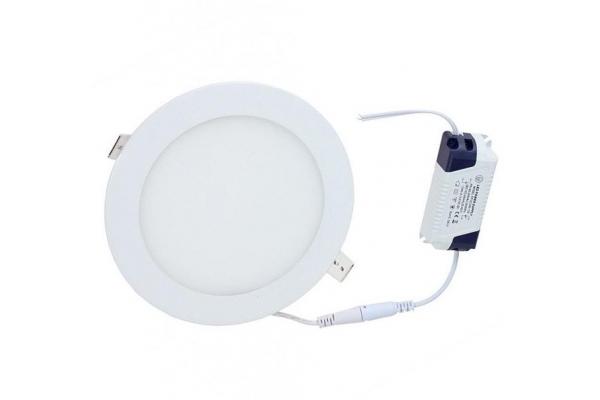 LED panel KRUHOVÝ vestavný BRGD0104 - 170x170x17mm - 12W - 230V - 860Lm - studená bílá