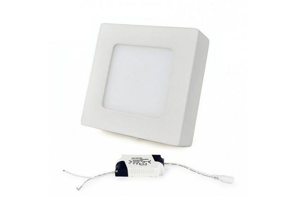 LED panel ČTVERCOVÝ BRGD0124 120x120x20mm přisazený - 6W - 230V - 390Lm - neutrální