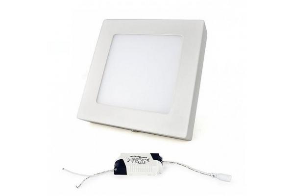 LED panel ČTVERCOVÝ BRGD0128 170x170x35mm přisazený - 12W - 230V - 860Lm - studená bílá