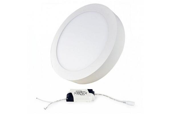 LED panel KRUHOVÝ BRGD0122 300x35mm přisazený - 24W - 230V - 1700Lm - studená